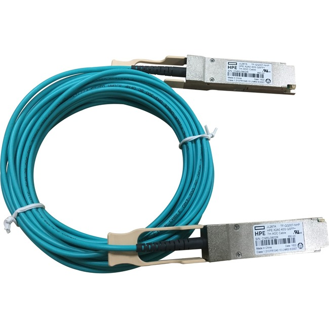 HP X2A0 40G QSFP+ to QSFP+ 7m Active Optical Cable