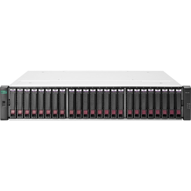 HP 2042 SAN Array - 24 x HDD Supported - 76.80 TB Supported HDD Capacity - 2 x SSD Installed - 800 GB Installed SSD Capa