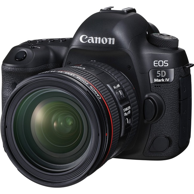 Canon EOS 5D Mark IV 30.4 Megapixel Digital SLR Camera with Lens - 24 mm - 70 mm - Black