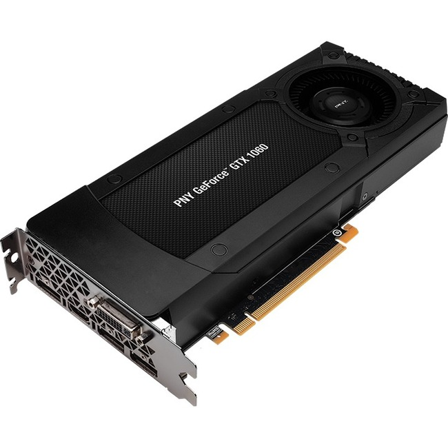 PNY GeForce GTX 1060 Graphic Card | 1.51 GHz Core | 1.71 GHz Boost Clock | 3 GB GDDR5 | PCI Express 3.0 x16 | Full-height | Dual Slot Space Required