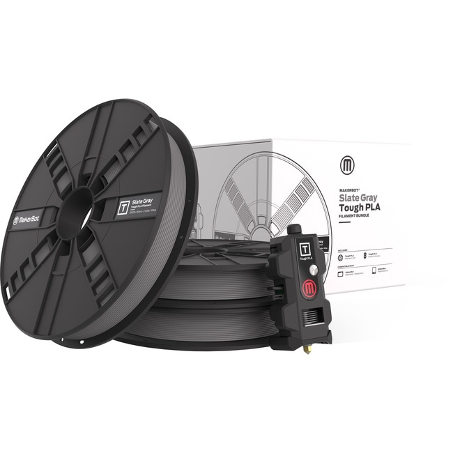 MakerBot Slate Gray Tough PLA Filament Bundle