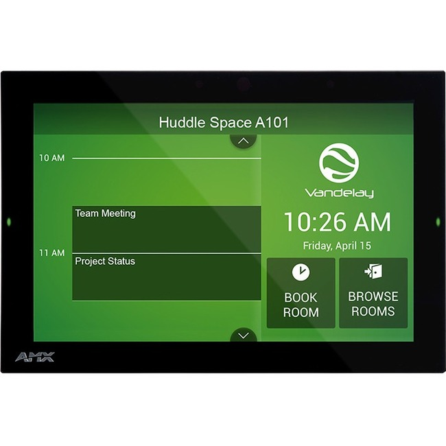 "AMX 10.1"" RoomBook Scheduling Touch Panel"