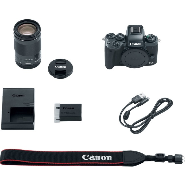 Canon EOS M5 24.2 Megapixel Mirrorless Camera with Lens - 18 mm - 150 mm - Black