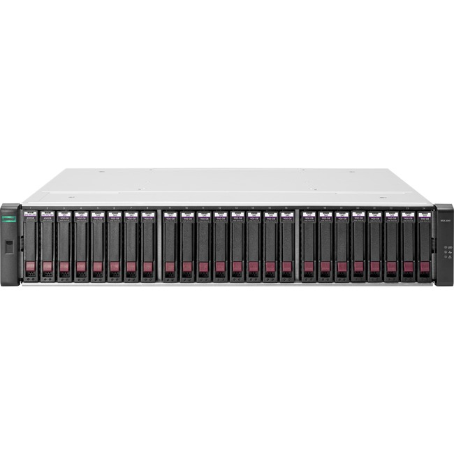HP 2042 SAN Array - 2 x SSD Installed - 800 GB Installed SSD Capacity