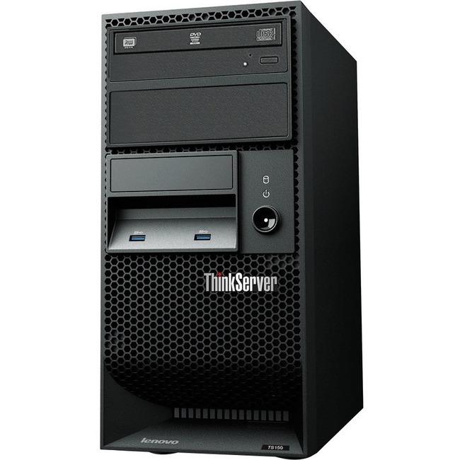 Lenovo ThinkServer TS150 70LX0018UX Tower Server - 1 x Intel Xeon E3-1275 v5 Quad-core (4 Core) 3.60 GHz - 8 GB Installe