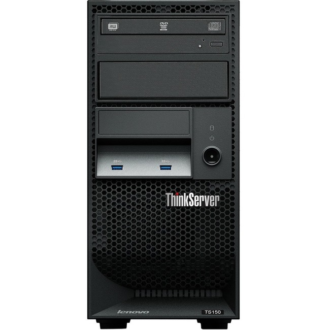 Lenovo ThinkServer TS150 70LV0031UX Tower Server | 1 x Intel Xeon E3-1225 v5 Quad-core (4 Core) 3.30 GHz | 8 GB Installed DDR4 SDRAM | Serial ATA/600 Controller | 0, 1, 5, 10 RAID Levels | 1 x 250 W