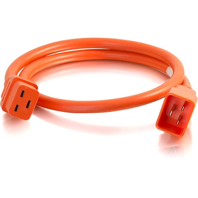 C2G 6ft 12AWG Power Cord (IEC320C20 to IEC320C19) | Orange