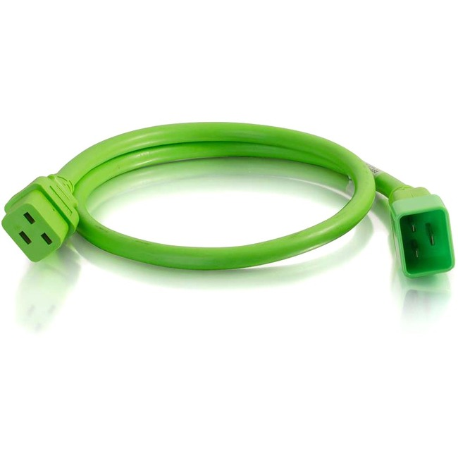 C2G 6ft 12AWG Power Cord (IEC320C20 to IEC320C19) | Green