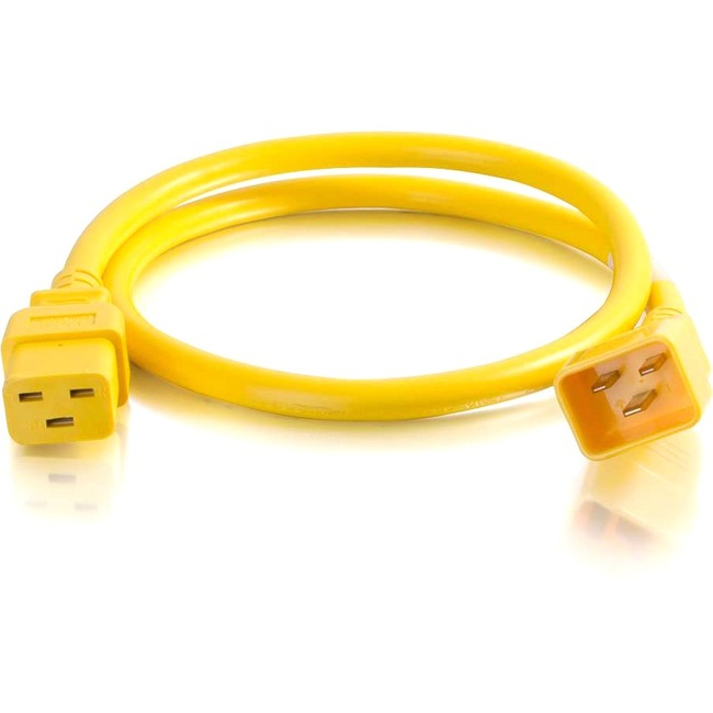 C2G 8ft 12AWG Power Cord (IEC320C20 to IEC320C19) | Yellow