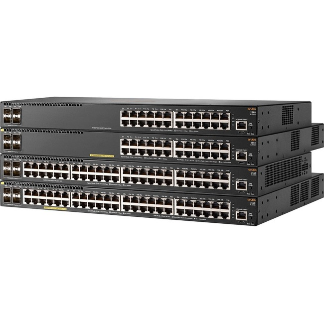 Aruba 2540 48G PoEplus 4SFPplus 48 Ports Manageable Ethernet Switch - 48 Network, 4 Expansion Slot - Modular - Twisted Pair, Optical Fiber - 2 Layer Supported - 1U High -
