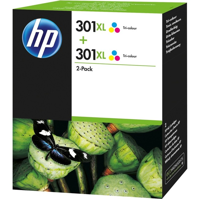 HP 301XL Ink Cartridge 2 Pack - Cyan, Magenta, Yellow