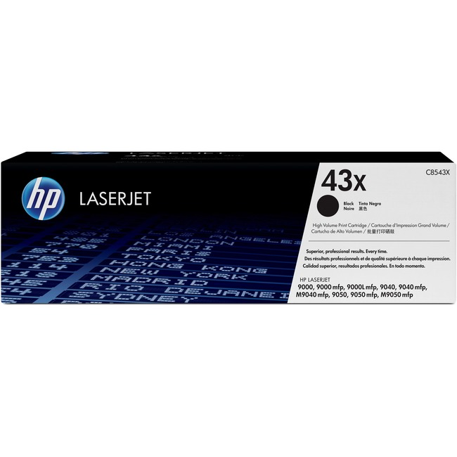 HP 43X Toner Cartridge - Black - Laser - 30000 Page - 1 Pack - Retail