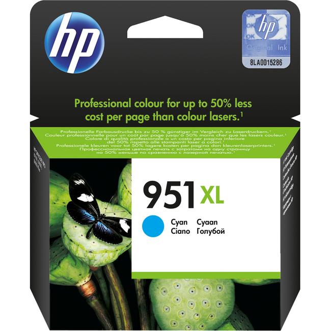 HP 951XL Cyan Ink Cartridge - CN046AE#BGX