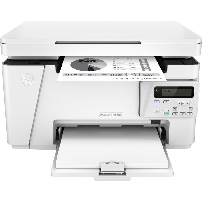 HP LaserJet Pro M26nw Laser Multifunction Printer - Monochrome - Plain Paper Print - Desktop