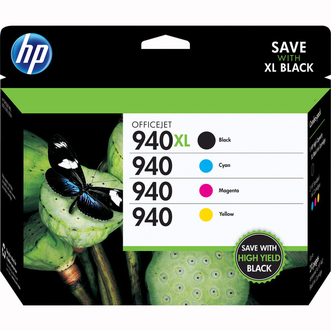 HP 940XL Ink Cartridge - Black, Cyan, Magenta, Yellow