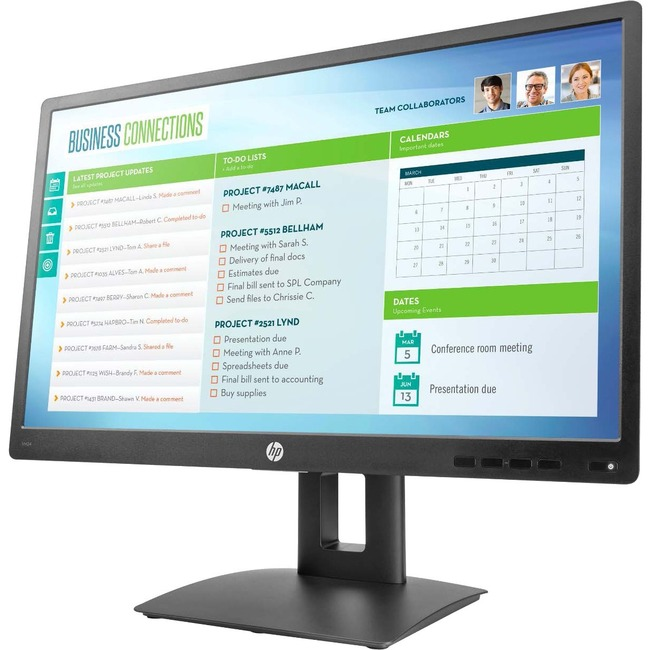 "HP Business VH24 23.8"" LED LCD Monitor - 16:9 - 5 ms - TAA Compliant"