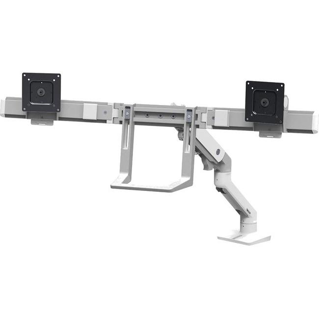HX DESK DUAL MONITOR ARM BRIGHT WHITE