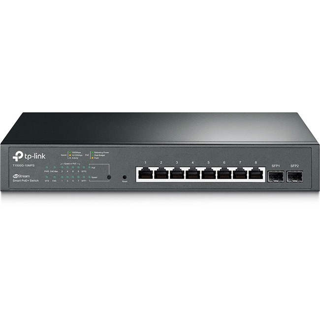 TP LINK 8PORT SMART SWTCH 8GB 2 SFP PORTS STACKABLE RJ45