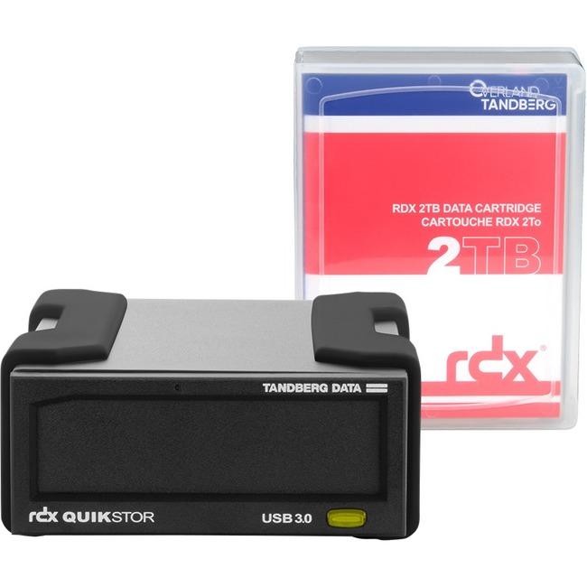 Tandberg RDX QuikStor 8865-RDX 2 TB External Hard Drive Cartridge