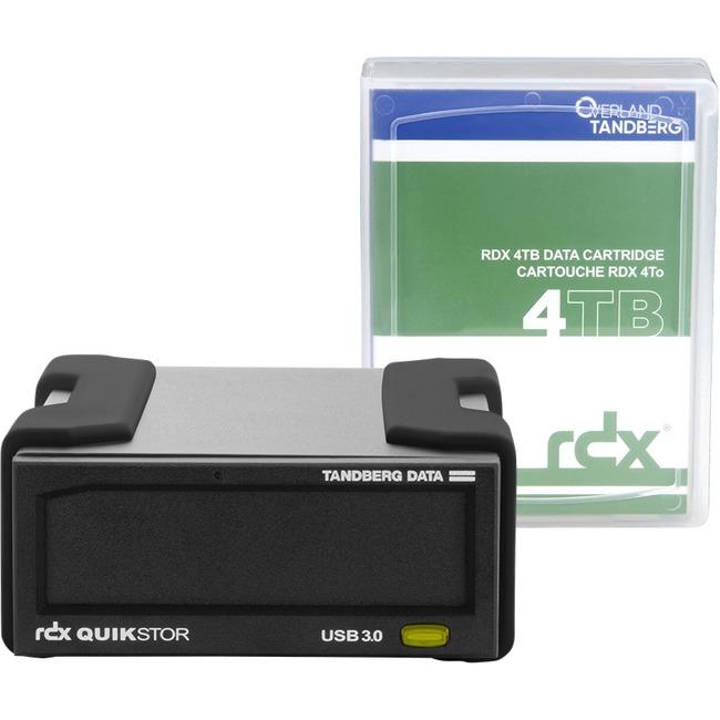 Tandberg RDX QuikStor 8866-RDX 4 TB Hard Drive Cartridge - External