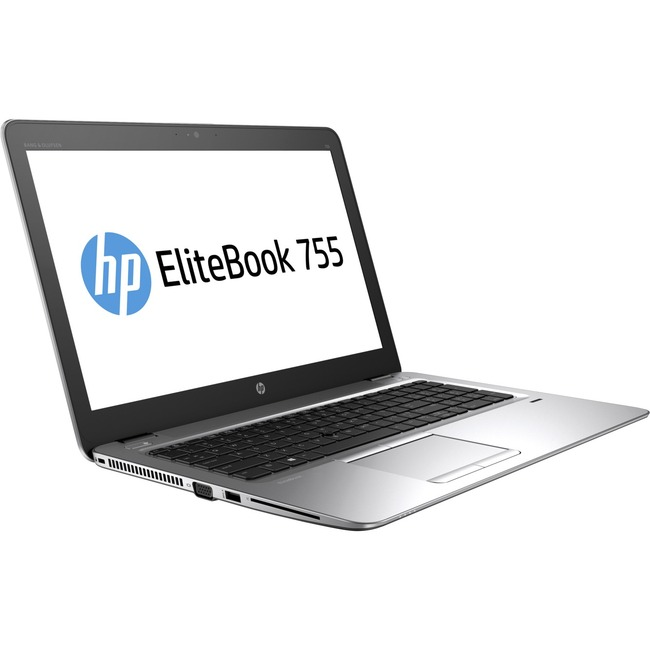"HP EliteBook 755 G4 15.6"" LCD Notebook - AMD A-Series A12-9800B Quad-core (4 Core) 2.70 GHz - 16 GB DDR4 SDRAM - 256 GB"