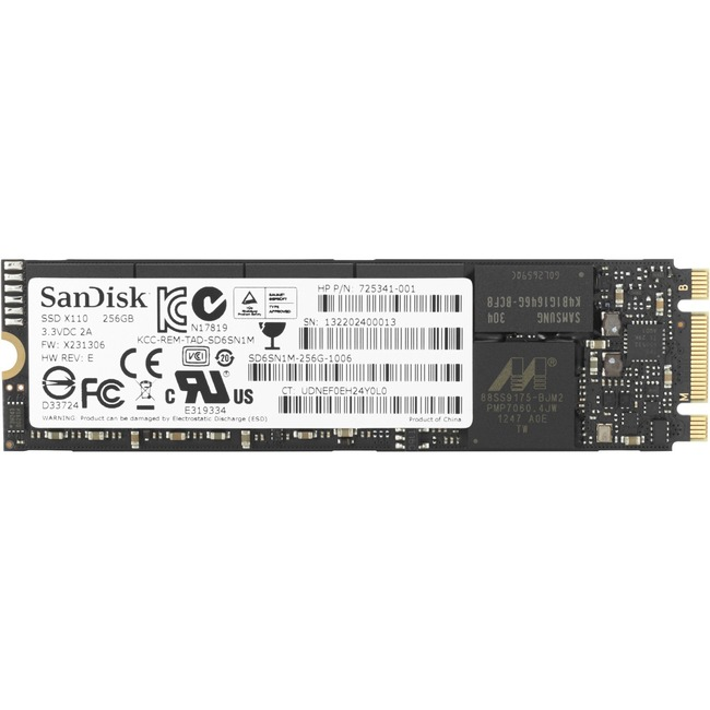 HP 256 GB Internal Solid State Drive - PCI Express - M.2