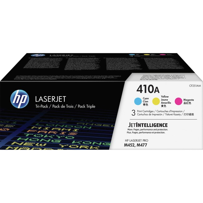 HP 410A Original Toner Cartridge - Cyan, Magenta