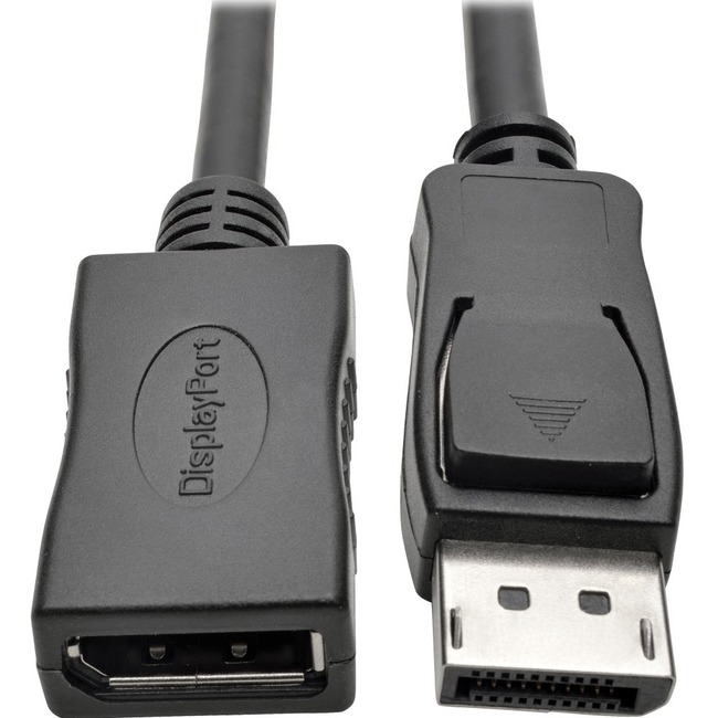 Tripp Lite DisplayPort Extension Cable 4K w/ Latches HDCP 2.2 M/F 10ft 10'