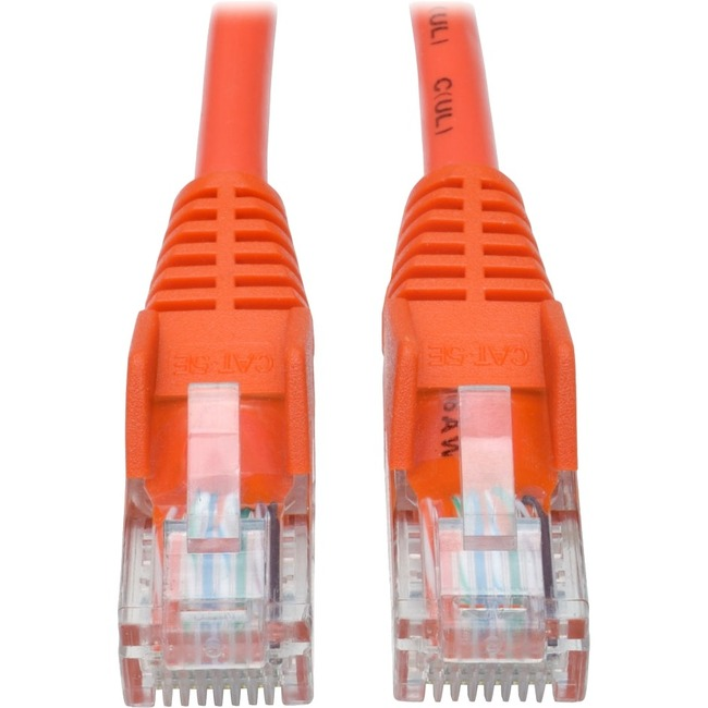 TRIPP LITE 25FT CAT5E ORANGE SNAGLESS MOLDED RJ45 TO RJ45 PATCH CABLE UTP