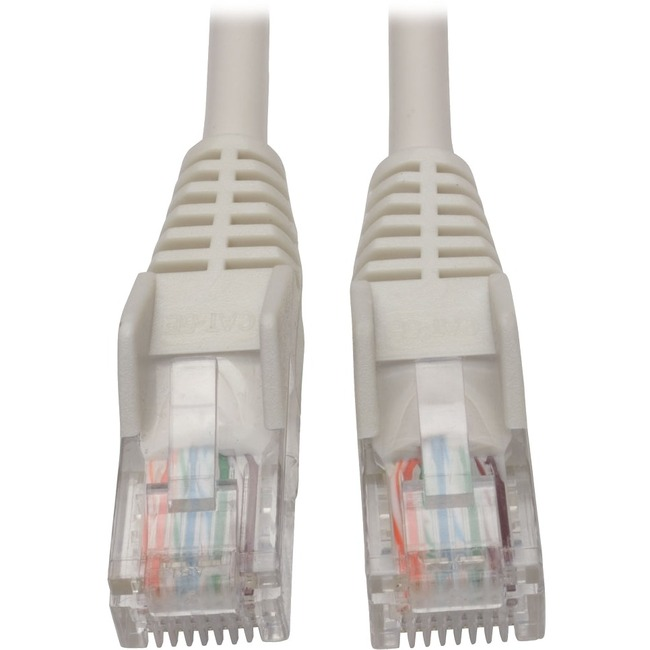 Tripp Lite 5ft Cat5 Cat5e Snagless Molded Patch Cable UTP White RJ45 M/M 5'