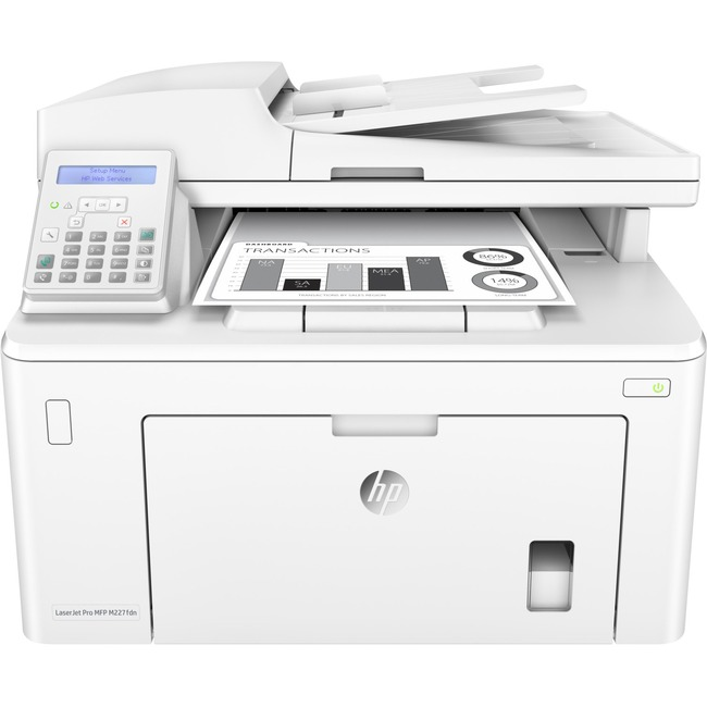 HP LaserJet Pro M227fdn Laser Multifunction Printer - Monochrome - Plain Paper Print - Desktop