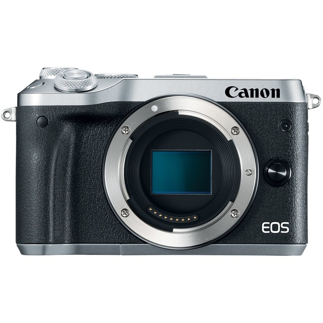 Canon EOS M6 24.2 Megapixel Mirrorless Camera Body Only - Silver