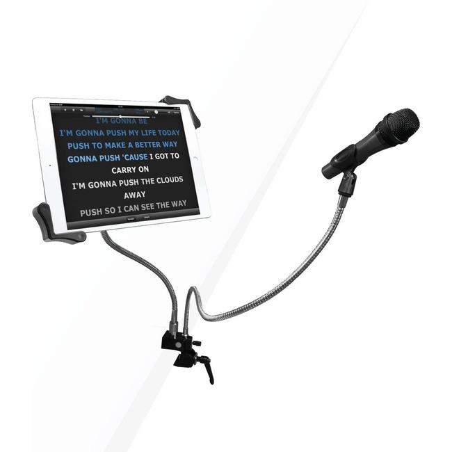 CTA Digital Clamp Mount for Microphone, Tablet PC, iPad mini, iPad Air, iPad Pro