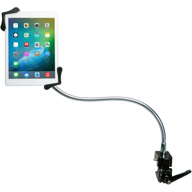CTA Digital Heavy-Duty Gooseneck Clamp Stand For 7-13In Tablets