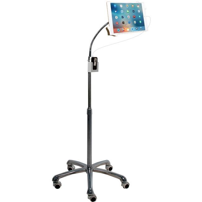 CTA Digital Heavy-Duty Gooseneck Floor Stand for 7-13 Inch Tablets