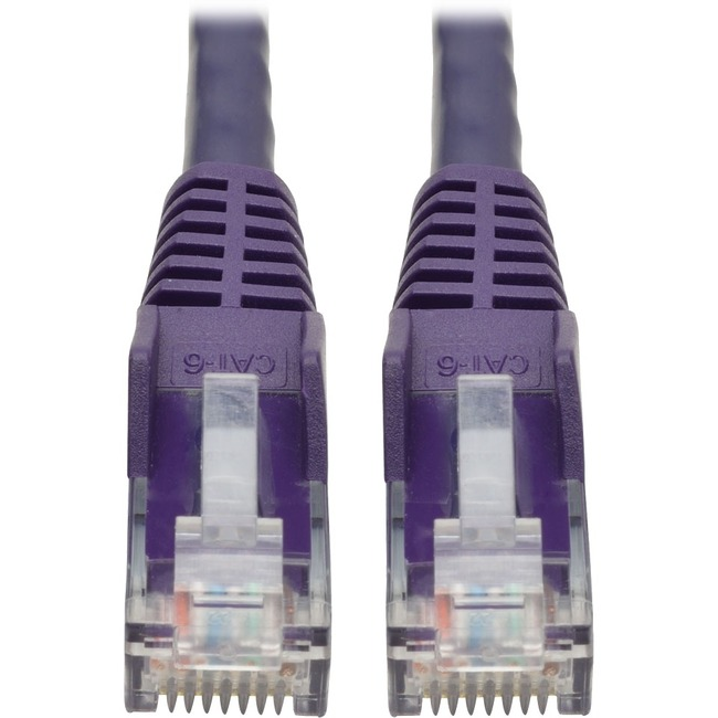 TRIPP LITE 6FT CAT6 PURPLE SNAGLESS MOLDED RJ45 TO RJ45 PATCH CABLE UTP