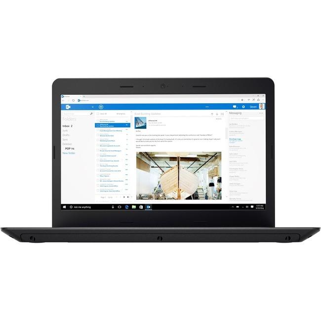 "Lenovo ThinkPad E470 20H1006DUS 14"" LCD Notebook | Intel Core i5 (7th Gen) i5-7200U Dual-core (2 Core) 2.50 GHz | 8 GB DDR4 SDRAM | 500 GB HDD | Windows 10 Pro 64-bit (English) | 1920 x 1080 | In-plane Switching (IPS) Technology | Black"