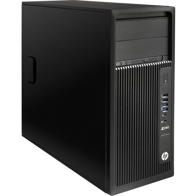 HP Z240 Workstation - 1 x Intel 3.50 GHz - 32 GB DDR4 SDRAM - 512 GB SSD - Windows 7 Professional 64-bit - Mini-tower -