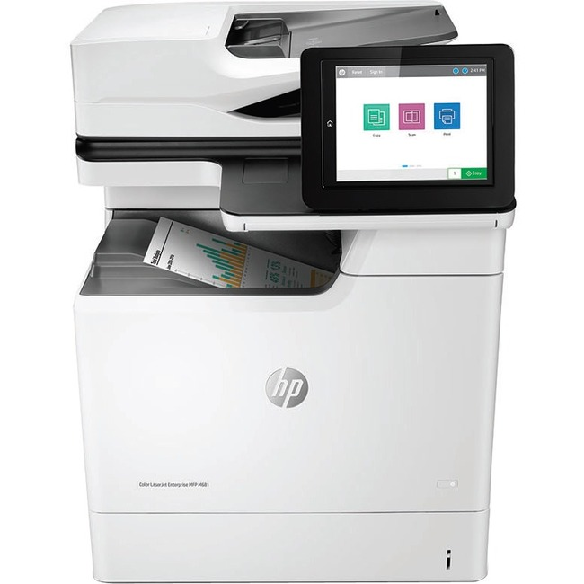 HP LaserJet M681f Laser Multifunction Printer - Color - Plain Paper Print - Desktop