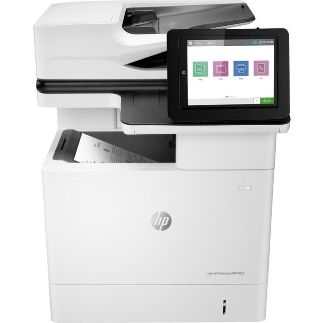 HP LaserJet M633fh Laser Multifunction Printer - Monochrome - Plain Paper Print - Desktop