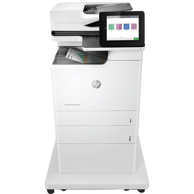 HP LaserJet M681z Laser Multifunction Printer - Color - Plain Paper Print - Floor Standing