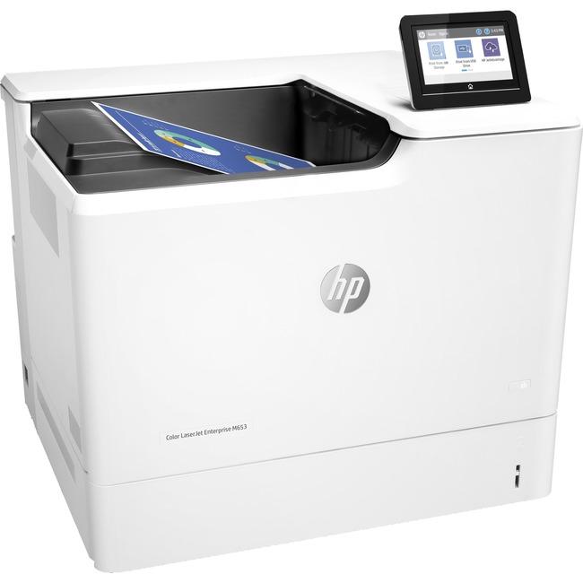 HP LaserJet M653dn Laser Printer - Color - Plain Paper Print