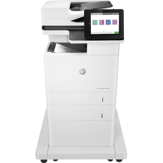 HP LaserJet M632z Laser Multifunction Printer - Monochrome - Plain Paper Print - Floor Standing