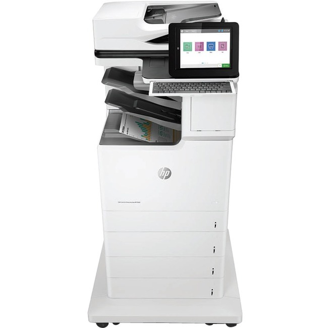 HP LaserJet M681f Laser Multifunction Printer - Color - Plain Paper Print - Floor Standing