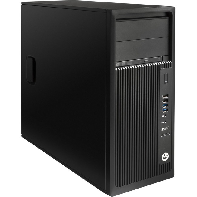 HP Z240 Workstation - 1 x 3.70 GHz - 32 GB DDR4 SDRAM - 500 GB HDD - Windows 10 Pro 64-bit - Mini-tower - Black
