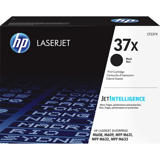 HP 37X Original Toner Cartridge - Black - Laser - High Yield - 25000 Pages