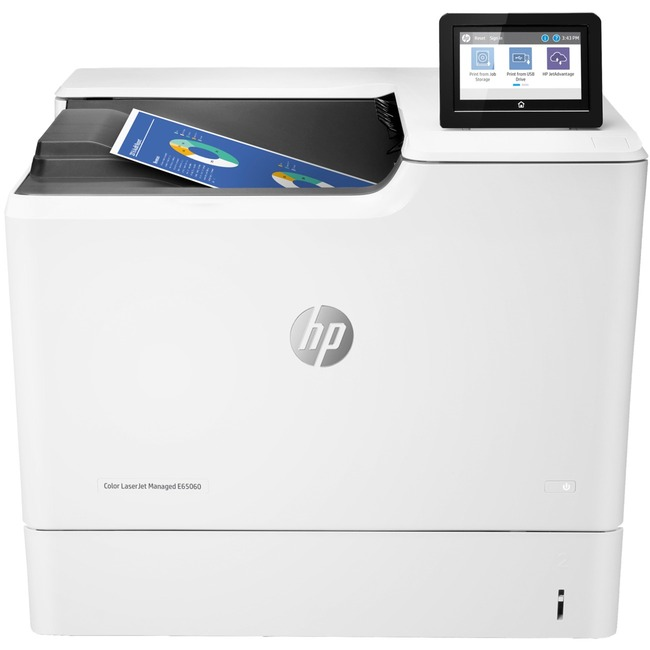HP LaserJet Managed E65060DN Laser Printer - Color - 1200 x 1200 dpi Print - Plain Paper Print - Desktop