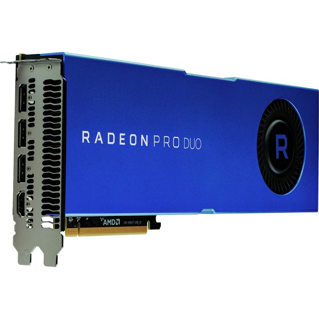AMD Radeon Pro Duo Graphic Card - 2 GPUs - 1.24 GHz Core - 32 GB GDDR5 - Full-height - Dual Slot Space Required