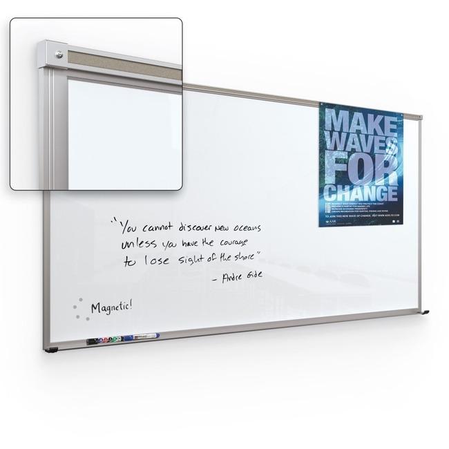 Balt Framed Magnetic Glass Board - Gloss White