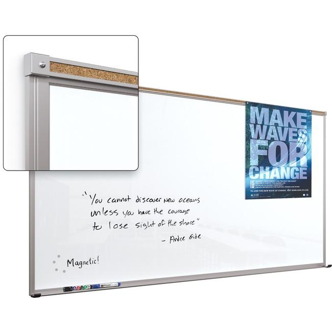 Balt Framed Magnetic Glass Dry Erase Whiteboard